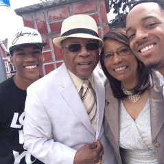 From left to right: James Hairston IV, Bishop J.C. White, Lady Gloria White and Sean Terrell